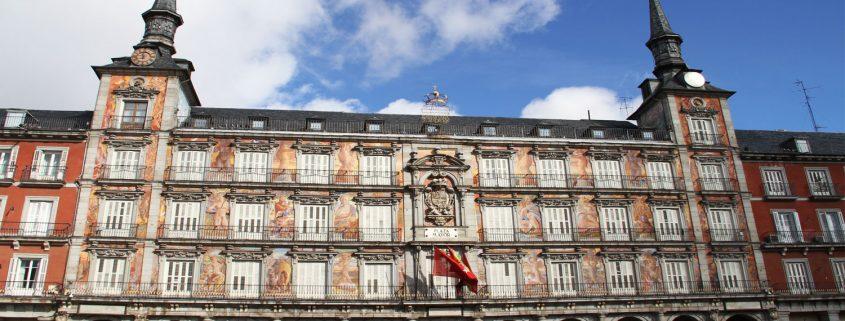 recalce de la Casa de la Panadería de la Plaza Mayor en Madrid