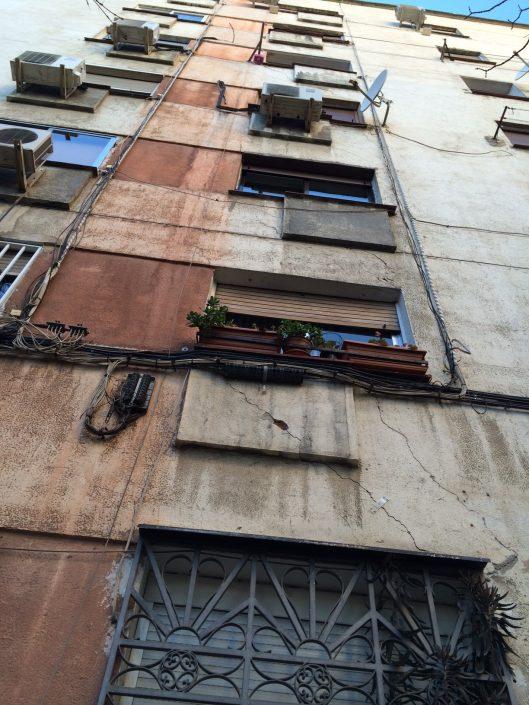 grietas en edificios