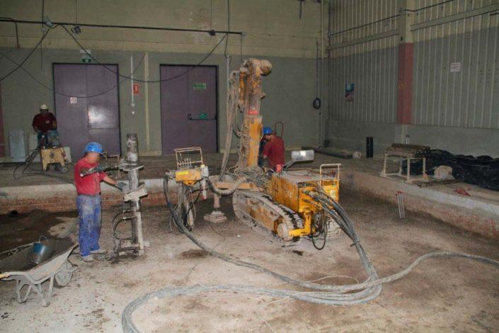 cimentación maquinaria industrial